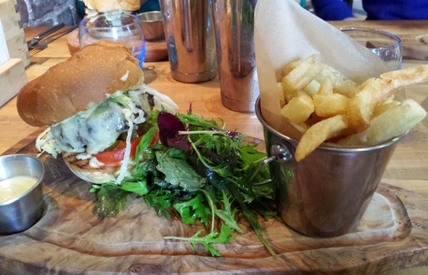 One of the our delicious Coggings and Co burgers with chips
